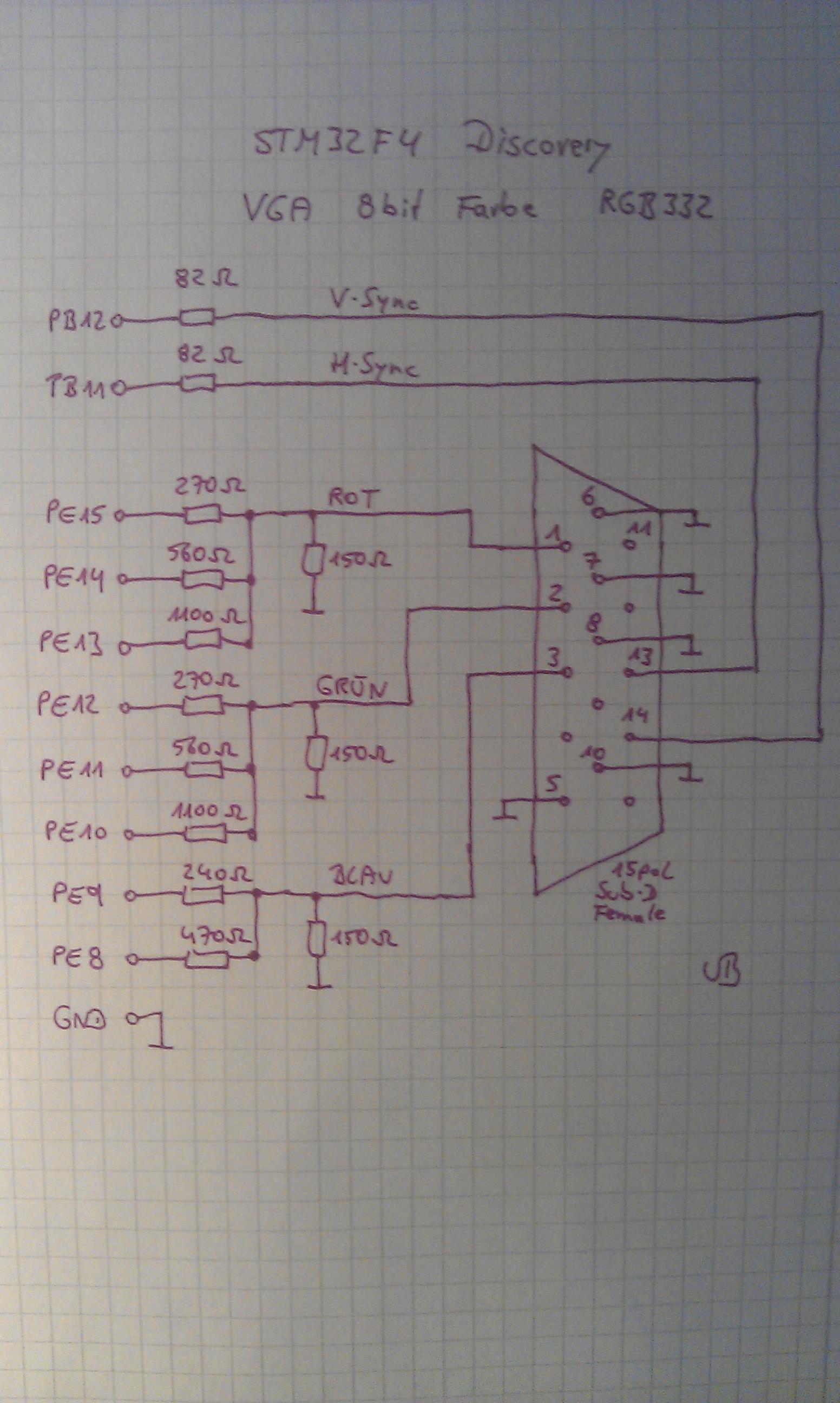 Fantastisch Vga Anschluss Schaltplan Bilder - Elektrische Schaltplan ...