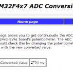 ADC Anzeige