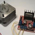 L298-Modul und Schrittmotor